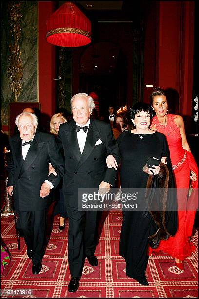 Baron David of Rothschild and father Baron Guy of Rothschild Liza Minnelli and Countess Pia De Nicolay Deauville's great Ball in the occasion of the...