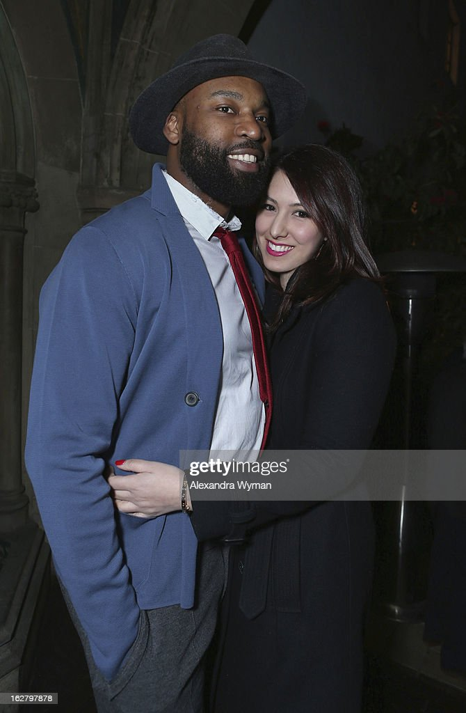 <a gi-track='captionPersonalityLinkClicked' href=/galleries/search?phrase=Baron+Davis&family=editorial&specificpeople=201592 ng-click='$event.stopPropagation()'>Baron Davis</a> (L) and Esther Song attends GREY GOOSE Pre-Oscar Party hosted by Michael Sugar, Doug Wald, Nathan Kahane and Warren Zavala at Chateau Marmont on February 23, 2013 in Los Angeles, California.