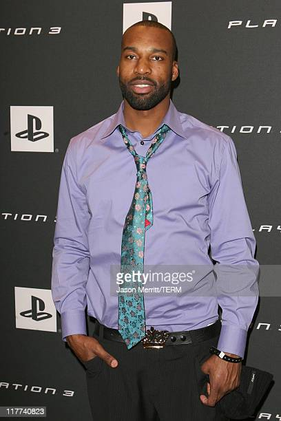Baron Davis during Playstation Parlor Hosted by Sony Computer Entertainment America Day 1 at The Palms Sky Villa in Las Vegas Nevada United States