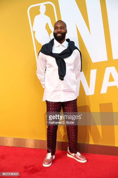 Baron Davis on the red carpet at the NBA Awards Show on June 26 2017 at Basketball City at Pier 36 in New York City New York NOTE TO USER User...