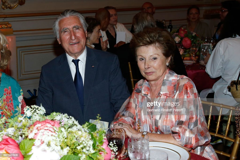 Baron Ernest-Antoine Seilliere and Marie-Louise de Clermont Tonnerre attend the 'Societe ses Amis du Musee d'Orsay' : Dinner Party at Musee d'Orsay on June 19, 2017 in Paris, France.