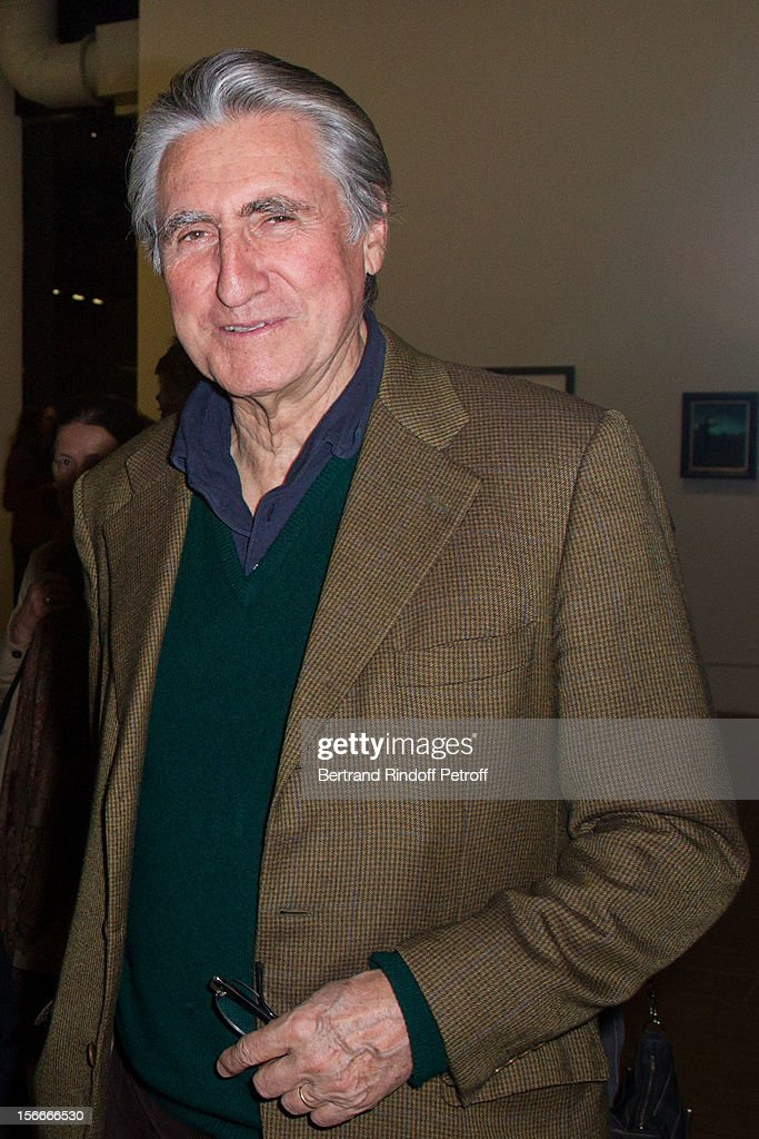 Baron Ernest-Antoine Seilliere attends Dali Private Exhibition Preview at Centre Pompidou on November 18, 2012 in Paris, France.