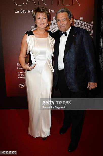 Baron Guy Ullens de Schooten and his wife Baroness Myriam Ullens de Schooten President of the Mimi Foundation arrive at the 'Cartier Le Style et...