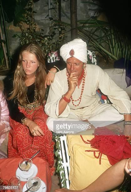 Baron Hans Heinrich Thyssen Bornemisza de Kaszon and his sisterinlaw Brazilian socialite Charlene Shorto at a nightclub in Marbella August 1971