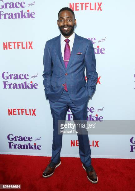Baron Vaughn arrives to Netflix's 'Grace And Frankie' Season 3 held at ArcLight Hollywood on March 22 2017 in Hollywood California