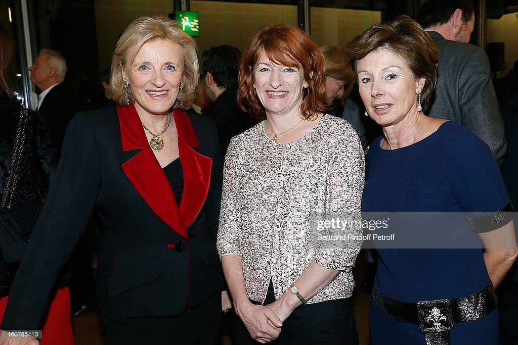 Baroness Antoinette Seilliere, Muriel Mayette and Princess Marie-Louise de Clermont Tonnerre attend the 8th Annual Dinner of the 'Societe Des Amis Du Musee D'Art Moderne' at Centre Pompidou on February 5, 2013 in Paris, France.
