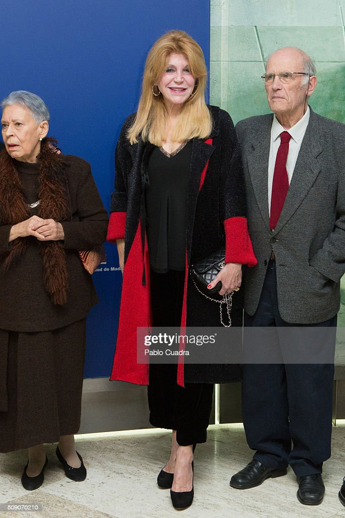 Baroness Carmen Thyssen attends the 'Realistas de Madrid' exhibition at Thyssen Museum on February 8, 2016 in Madrid, Spain.