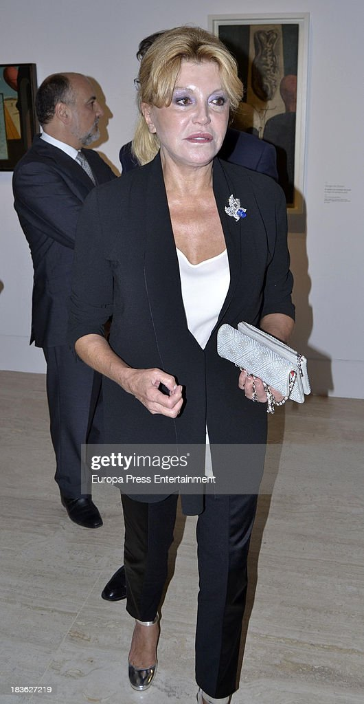 Baroness Carmen Thyssen-Bornemisza attends the opening of 'El Surrealismo y el Sueno' painting exhibition at Thyssen-Bornemisza museum on October 7, 2013 in Madrid, Spain.