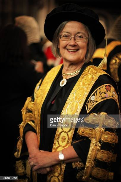 Baroness Hale of Richmond One of the new 11 Justices of the Supreme Court and the only woman arrives in Westminster Abbey after being sworn in on...