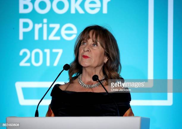 Baroness Helena Kennedy speaks on stage at the Man Booker Prize dinner and reception at The Guildhall on October 17 2017 in London England