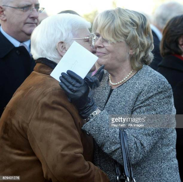 Baroness May Blood comforts Pat Cooper widow of Sir Bob Cooper at his funeral in Holywood Co Down The former head of the Fair Employment Commission...