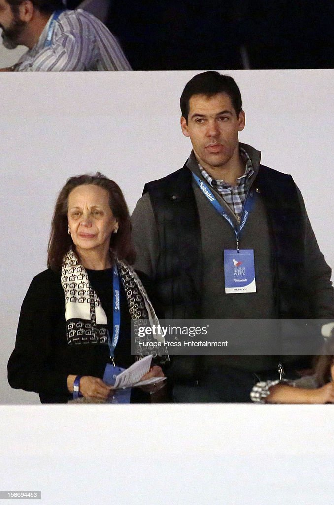 Baroness of Alaquas Amparo Corell and Luis Alfonso de Borbon attend Madrid Horse Week Fair 2012 at Ifema on December 23, 2012 in Madrid, Spain.