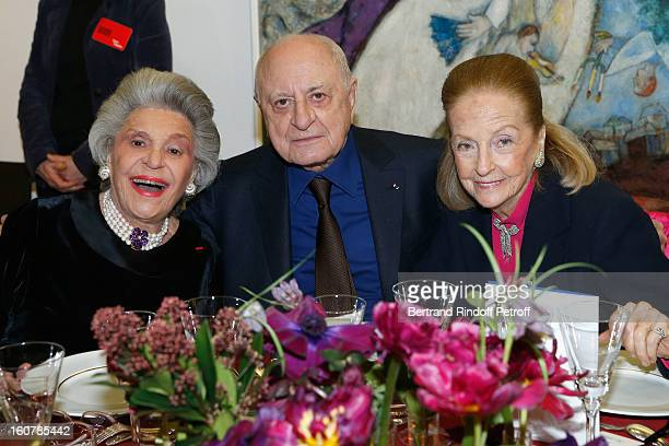 Baroness Philippine de Rothschild Pierre Berge and Doris Brynner attend the 8th Annual Dinner of the 'Societe Des Amis Du Musee D'Art Moderne' at...