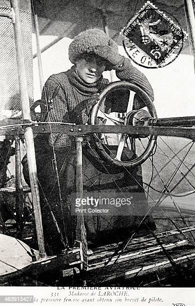 Baroness Raymonde Delaroche French aviator 1909 Baroness Delaroche was the first woman to be granted a pilot's licence by the French Aero Club On 3...