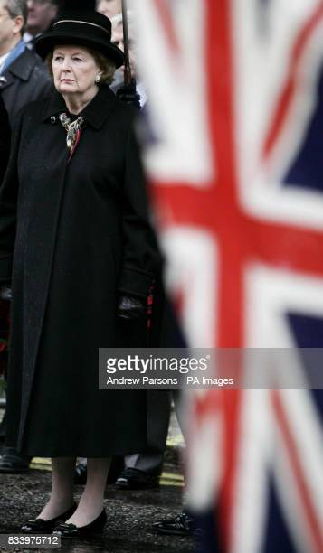 Baroness Thatcher joins Falkland Islanders and former servicemen in London to honour all those who lost their lives in wars in the South Atlantic