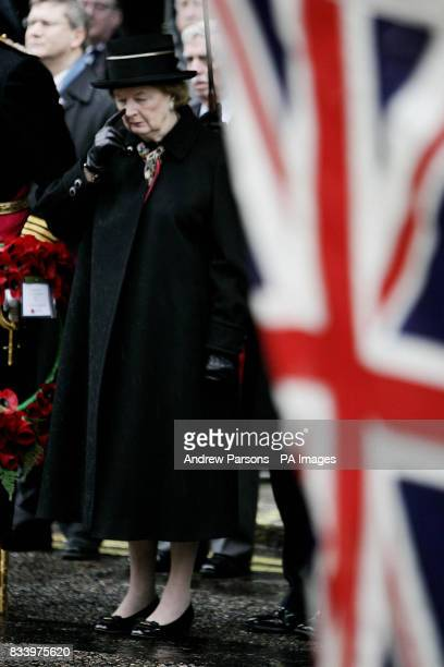 Baroness Thatcher who today joined Falkland Islanders and former servicemen in London to honour all those who lost their lives in wars in the South...