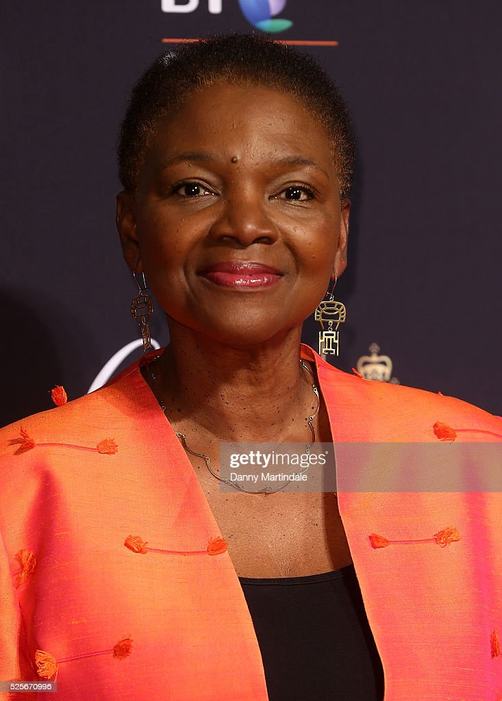 Baroness Valerie Amos arrives for the BT Sport Industry Awards at Battersea Evolution on April 28 2016 in London England