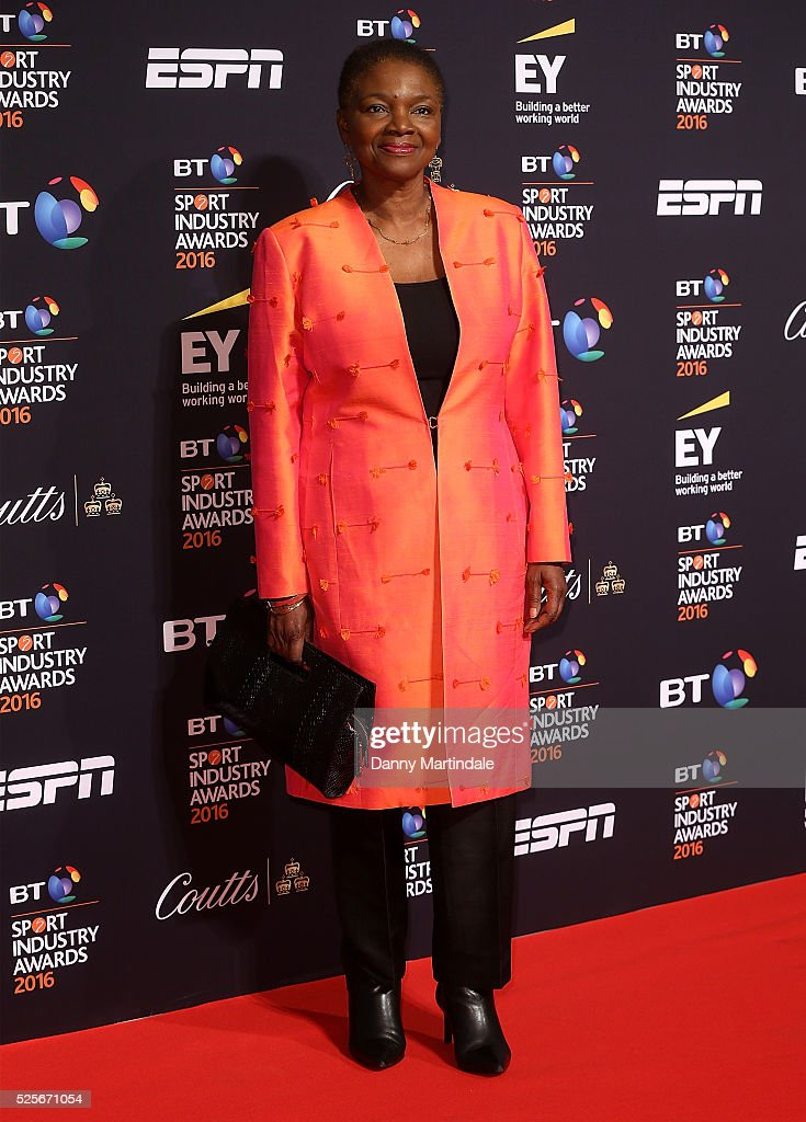Baroness Valerie Amos arrives for the BT Sport Industry Awards at Battersea Evolution on April 28, 2016 in London, England.
