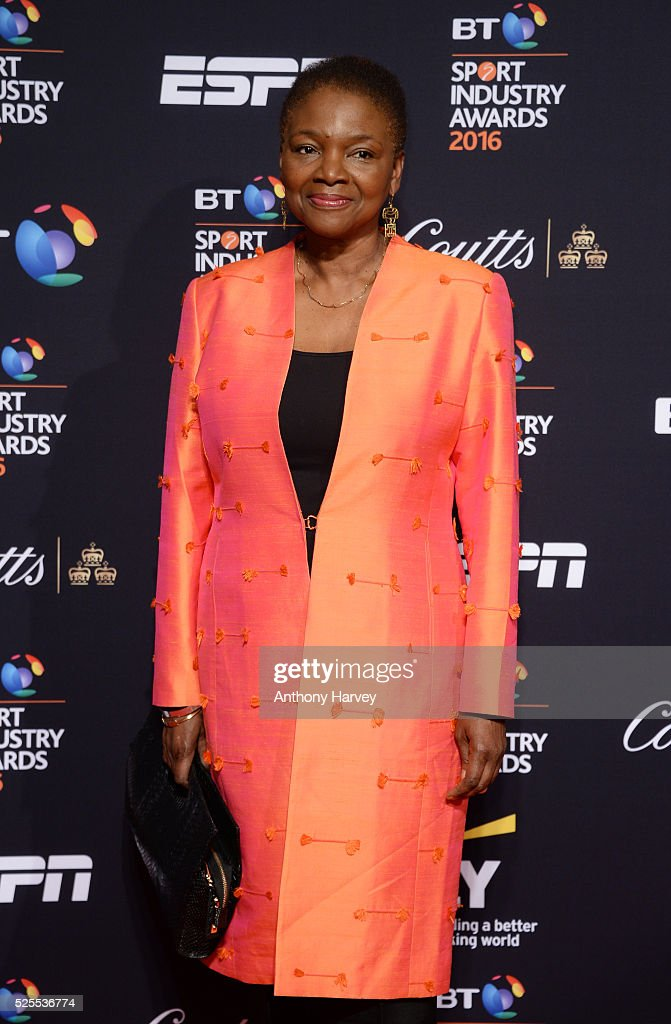 Baroness Valerie Amos poses on the red carpet at the BT Sport Industry Awards 2016 at Battersea Evolution on April 28 2016 in London England The BT...