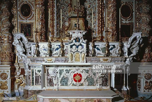 Baroque altar of the Cathedral of Santa Maria Assunta Lecce Apulia Italy 17th century