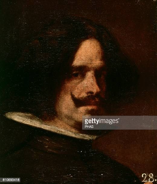 Baroque Art Diego Velazquez Spanish painter Self portrait Oil on canvas Museum of Fine Arts of Valencia