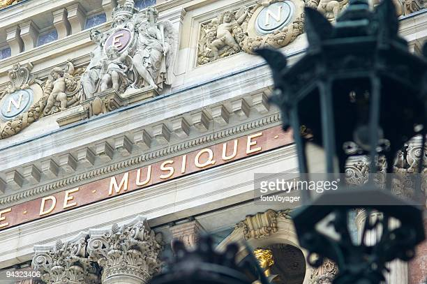 Baroque facade of the Opera Garnier, Paris
