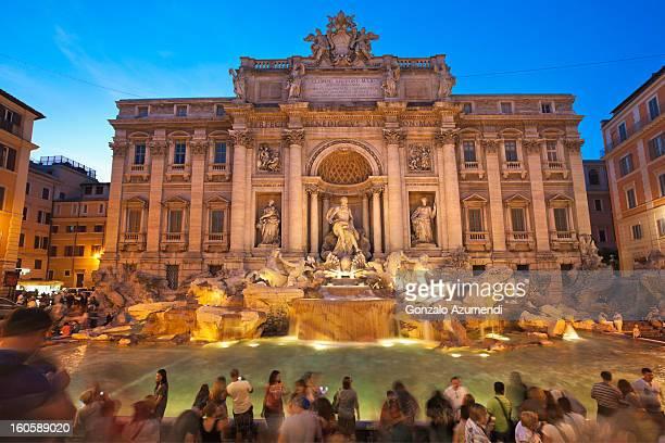 Baroque fountain in Rome.