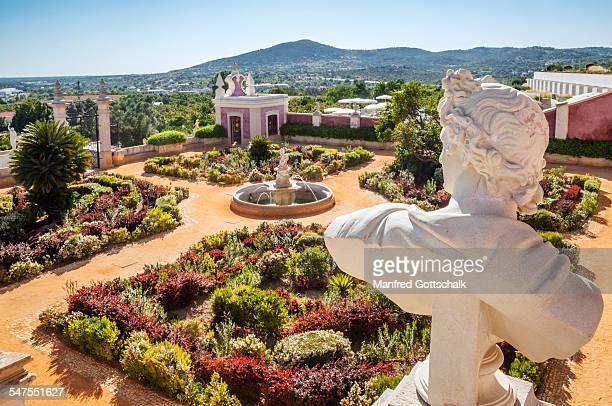 Baroque gardens at Palacio de Estoi