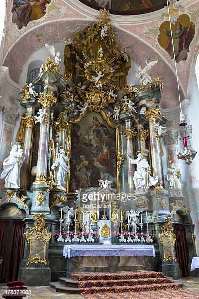 Baroque style Church of St Peter and Paul in Oberammergau in Upper Bavaria Germany