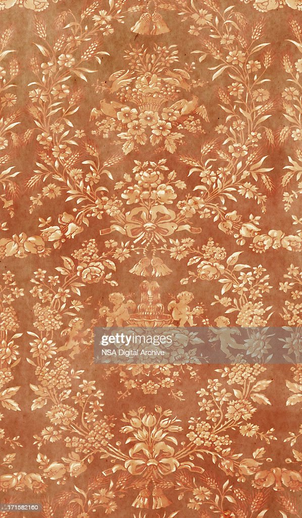 Baroquestyle brown wallpaper stock photo getty images for Baroque style wallpaper