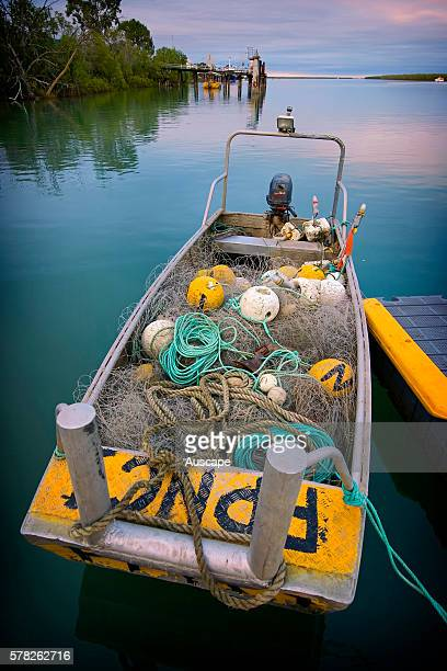 Barramundi fishing boat loaded with nets At the mouth of the Norman River the town's economy revolves largely around fishing Karumba Gulf Savannah...