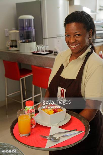 3B Barranco Bed and Breakfast dining room waitress serving breakfast
