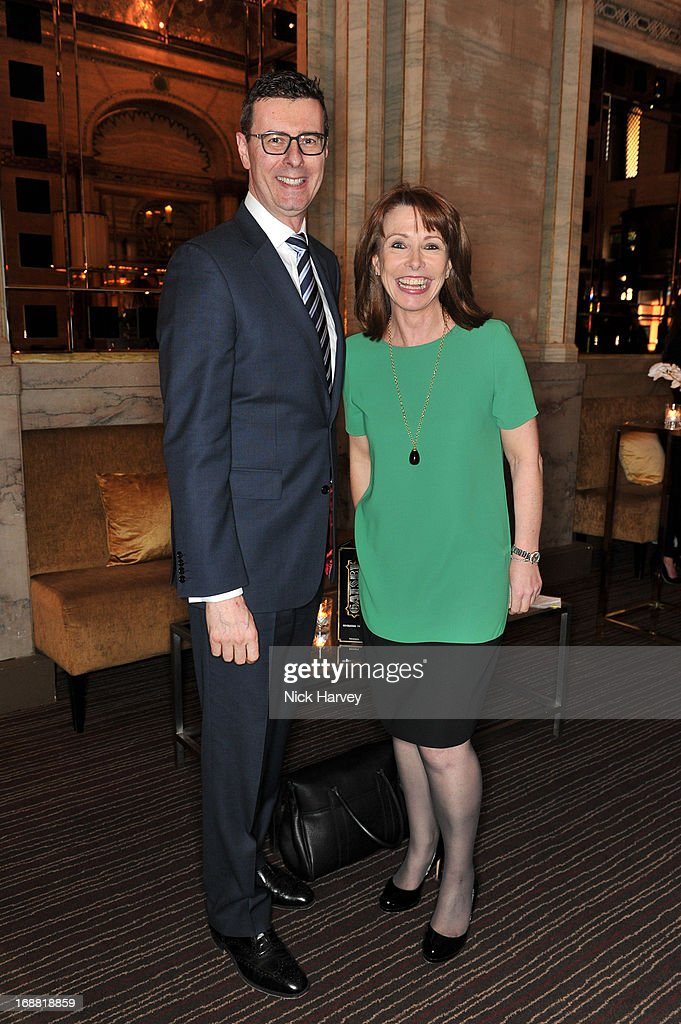 Barratt West and <a gi-track='captionPersonalityLinkClicked' href=/galleries/search?phrase=Kay+Burley&family=editorial&specificpeople=5407485 ng-click='$event.stopPropagation()'>Kay Burley</a> attends the Tiffany & Co. and Warner Brothers special screening of The Great Gatsby on May 15, 2013 in London, England.