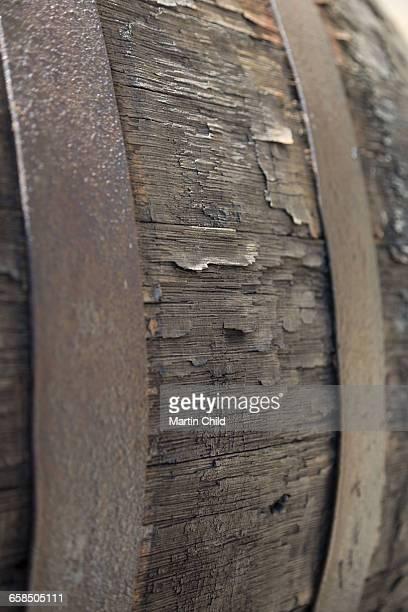 Barrel in a wine cellar in Rioja