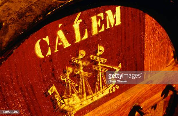 A barrel of Calem Tawny Port from The Douro.