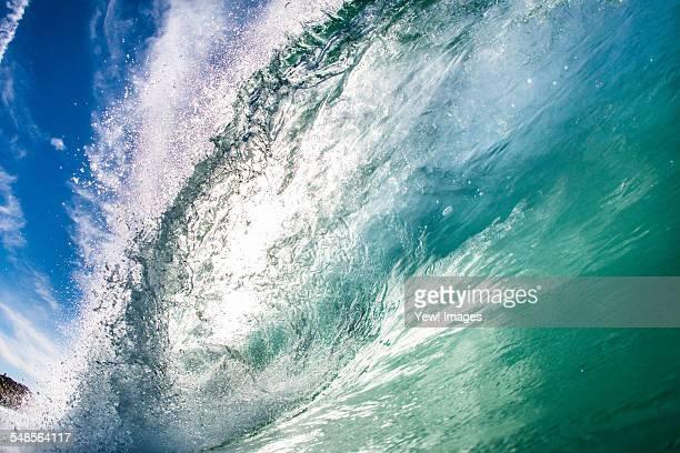 Barreling wave, California, USA