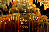 Barrels of Hennessy cognac, Cognac, Poitou-Charentes, France, Europe