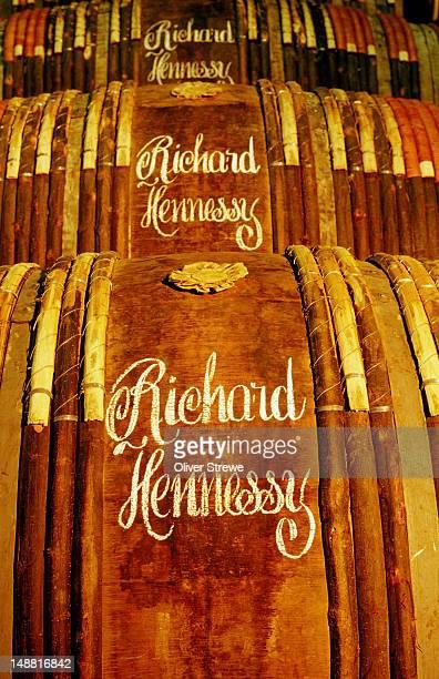 Barrels of Hennessy cognac.