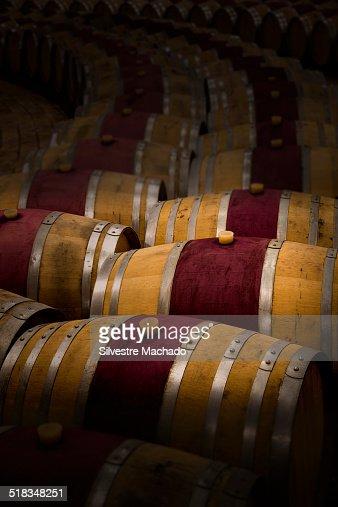 Barrels of wine