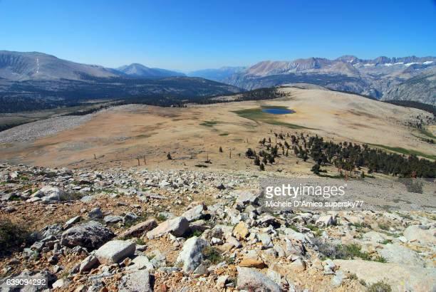 Barren high altitude landscape in the High Sierra