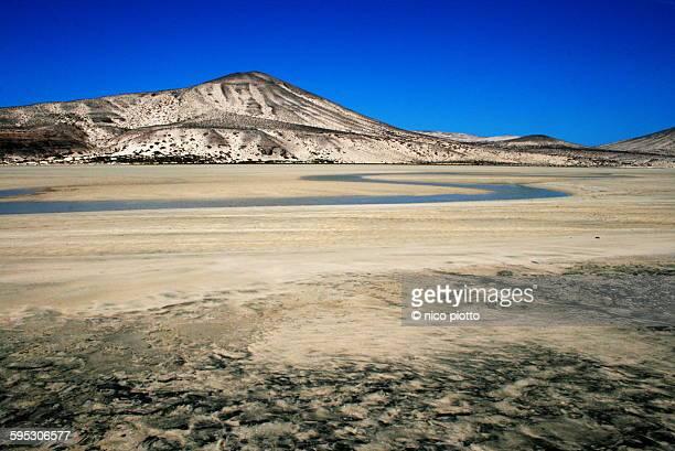 Barren landscape in Fuerteventura