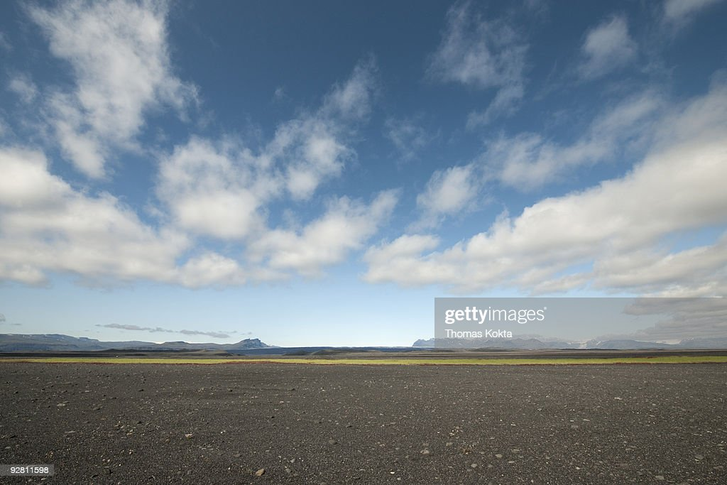 Barren, rocky landscape, Iceland. : Stock Photo