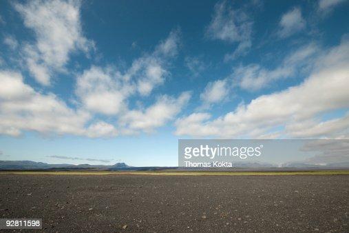 Barren, rocky landscape, Iceland. : Stock Photo