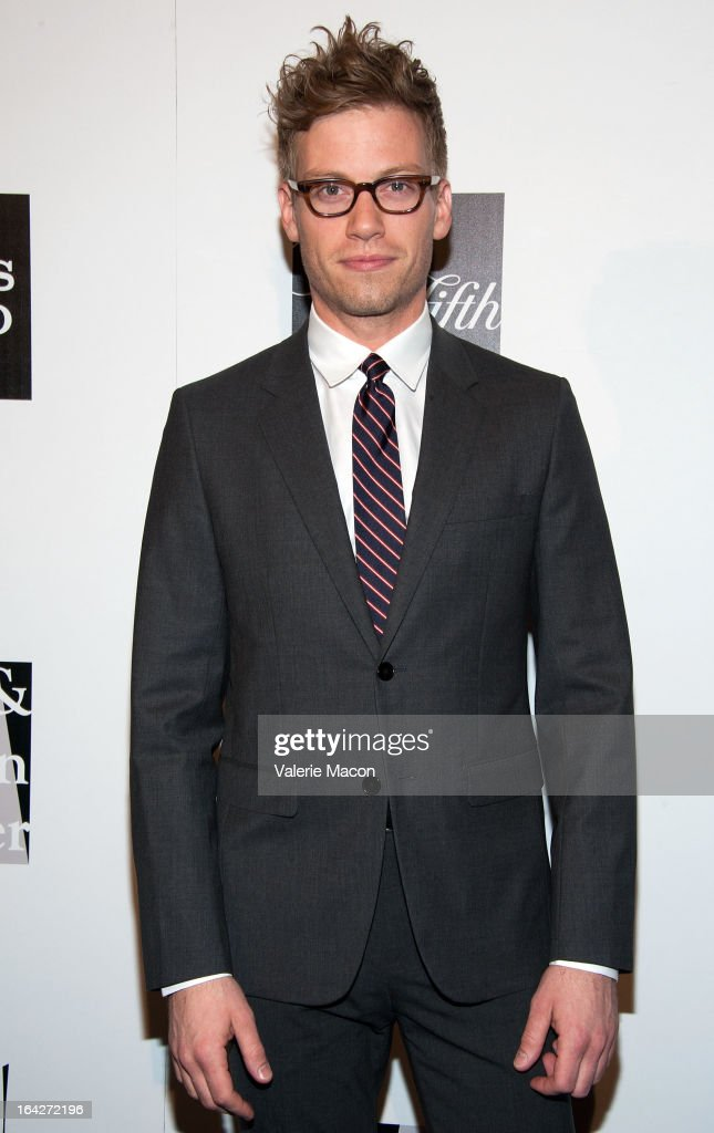 <a gi-track='captionPersonalityLinkClicked' href=/galleries/search?phrase=Barrett+Foa&family=editorial&specificpeople=2258093 ng-click='$event.stopPropagation()'>Barrett Foa</a> arrives at 'An Evening' Benefiting The L.A. Gay & Lesbian Center at the Beverly Wilshire Four Seasons Hotel on March 21, 2013 in Beverly Hills, California.