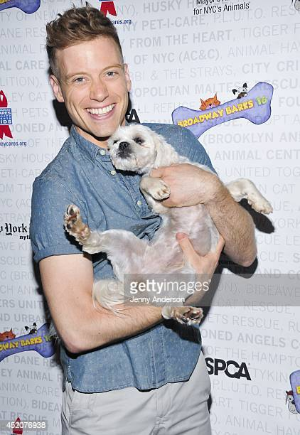 Barrett Foa attends Broadway Barks 16 at Shubert Alley on July 12 2014 in New York City