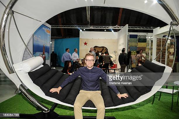 Barrett Foa attends WestEdge Design Fair at Barker Hangar on October 3 2013 in Santa Monica California
