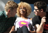 Barrett Foa Keri hilson and Nick Jonas attend the 27th Annual AIDS Walk New York at Central Park on May 20 2012 in New York City