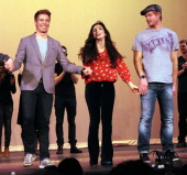 Barrett Foa Molly Ephraim and Trevor Donovan attend 2nd Annual Hollywood Rush Benefiting the Baby Dragon Fund Inside at The Wilshire Ebell Theatre on...