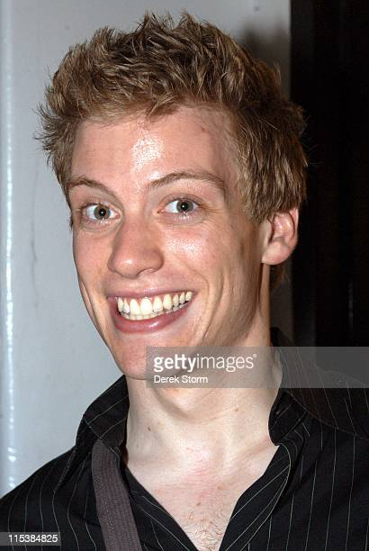 Barrett Foa of 'Avenue Q' during The Leading Men Concert at Joe's Pub to Benefit Broadway Cares May 30 2005 at Joe's Pub in New York City New York...