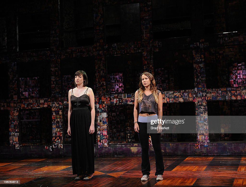 Barrett Wilbert Weed (L) and Elizabeth Judd attend the 'Bare' Press Rehearsal at New World Stages on November 12, 2012 in New York City.